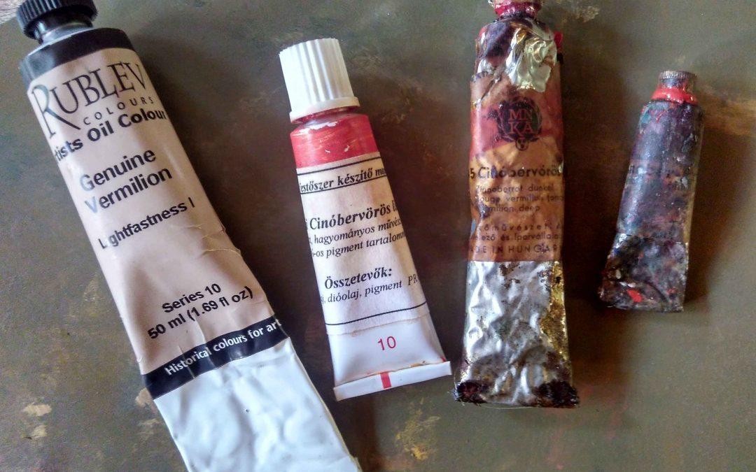 A cinóbervörös pigment 2. A teszt