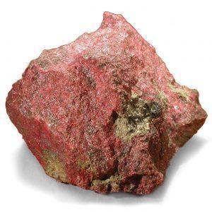 Cinóber kristályok természetes ásványi formában