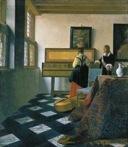 A zene lecke 1662-1664 Olaj, vászon, 73,3 x 64,5 cm
