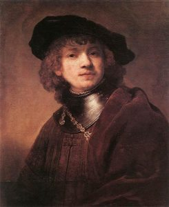 Rembrandt fiatalkori önarcképe