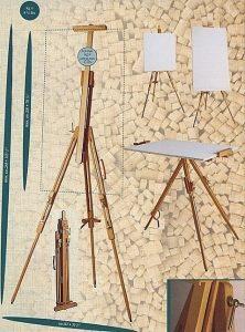 Hagyományos fa 3 lábú tábori festőállvány