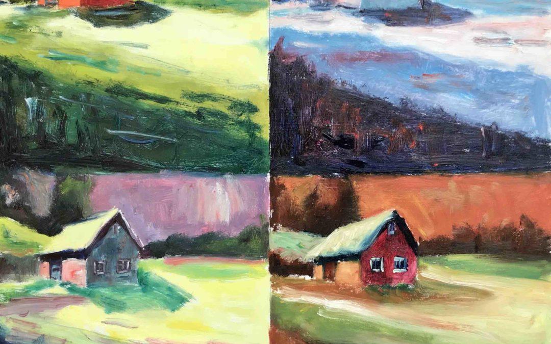 32. Lecke 6. videó modern kép festése (KSZR Színkeverő online festőtanfolyam)