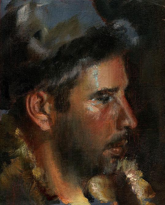 32. Lecke Festés Apellész  palettával 2. videó férfi portré (Fest. Korl. Palett. 2.0)