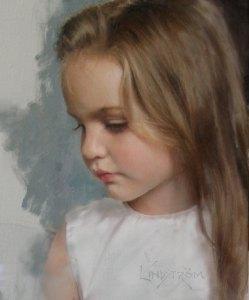 Portréfestés kislány portréja